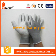 Nylon White PU Gloves, Working Gloves (DPU119)